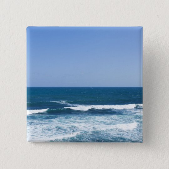 Puerto Rico, Old San Juan, seascape 15 Cm Square Badge