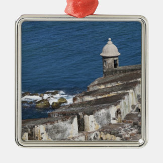 Puerto Rico, Old San Juan, section of El Morro Christmas Ornament