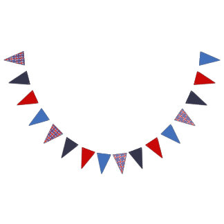 Puerto Rico Party Theme: Bold Flag Square Pattern