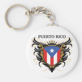 Puerto Rico [personalize] Basic Round Button Key Ring