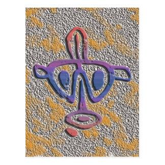 Puerto Rico - petroglyph Postcard