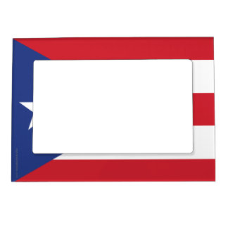 Puerto Rico Plain Flag Magnetic Picture Frame