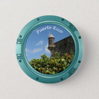 Puerto Rico Porthole 6 Cm Round Badge