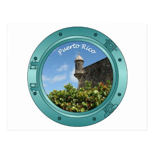 Puerto Rico Porthole Postcard