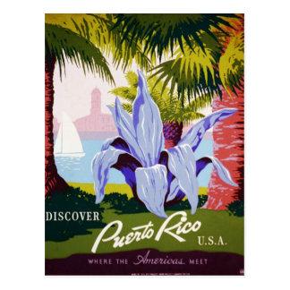 Puerto Rico poster Postcard
