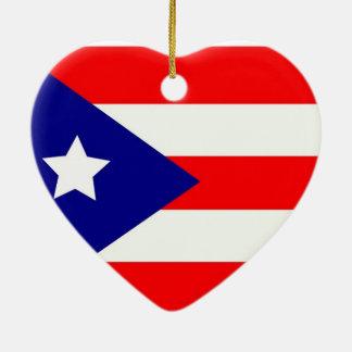 Puerto Rico Pride Christmas Ornament