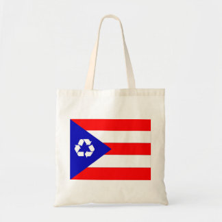 Puerto Rico recycle flag bag