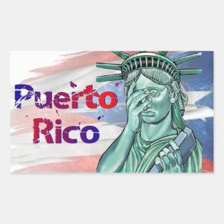 Puerto Rico Relief. Shame on You Trump! Rectangular Sticker