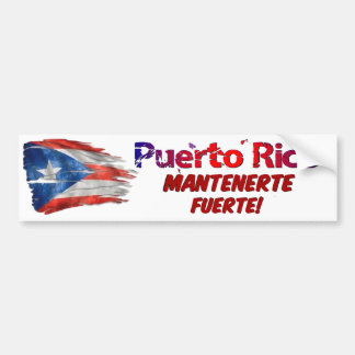 Puerto Rico Relief - Stay Strong! Bumper Sticker