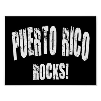 Puerto Rico Rocks! Poster