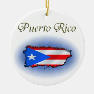 Puerto Rico Round Ceramic Decoration