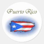 Puerto Rico Round Stickers