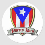 Puerto Rico - Shield2 Round Sticker