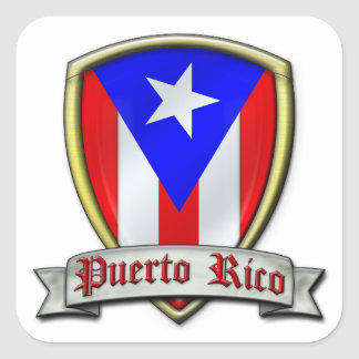 Puerto Rico - Shield2 Square Sticker