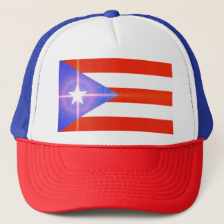 Puerto Rico Shining Star Flag Stickers Cap
