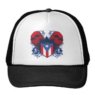 Puerto Rico Skulls Mesh Hats