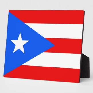 Puerto Rico State Flag Plaque