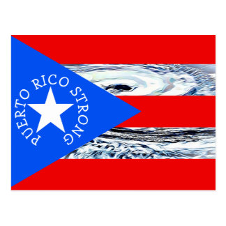 Puerto Rico  Strong Hurricane Flag Post card