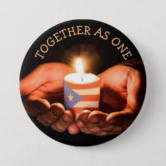 PUERTO RICO TOGETHER AS ONE HURRICANE BUTTON