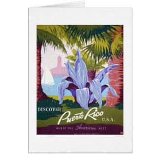 Puerto Rico Tourism 1940 WPA Card