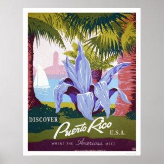 Puerto Rico Tourism 1940 WPA Poster
