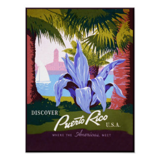 Puerto Rico travel poster