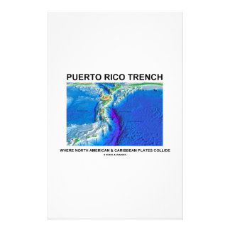 Puerto Rico Trench Where North American Caribbean Customised Stationery