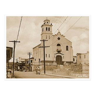 Puerto Rico Vintage: Cathedral Barranquitas Postcard