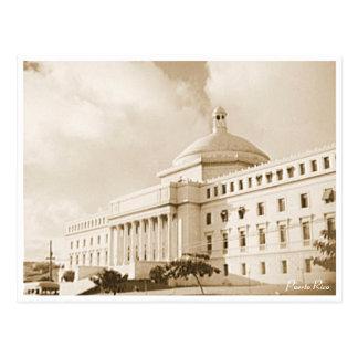 Puerto Rico Vintage: Historical  Capitol Building Postcard