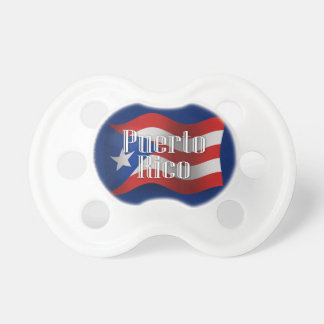 Puerto Rico Waving Flag Pacifiers