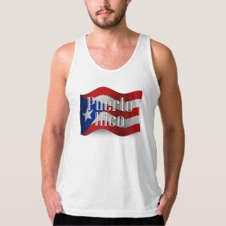 Puerto Rico Waving Flag Tank Top