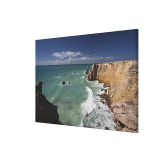 Puerto Rico, West Coast, Cabo Rojo, coastline Gallery Wrap Canvas