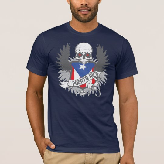 Puerto Rico Wings and Skull T-Shirt
