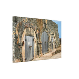 Puerto Rico Wood Doors Stretched Canvas Prints