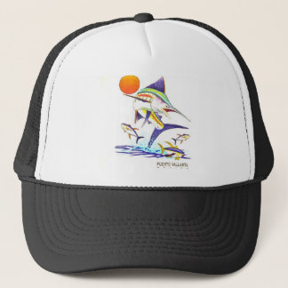 Puerto Vallarta Mexico Sailfish Mesh Trucker Hat