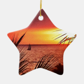 Puerto Vallarta Sunset Christmas Ornament