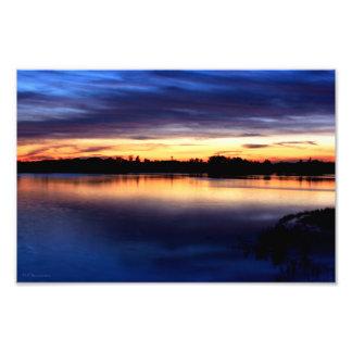 Puesta de sol en la laguna de El Rocío Doñana Fotografía