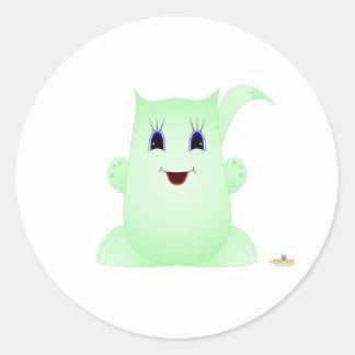 Puff Pal Greenie Stickers
