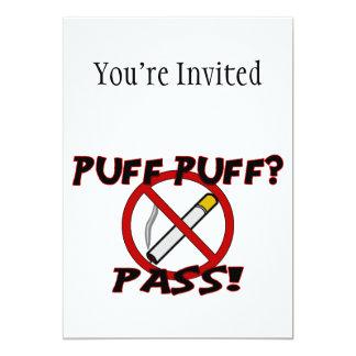 Puff Puff Pass 13 Cm X 18 Cm Invitation Card