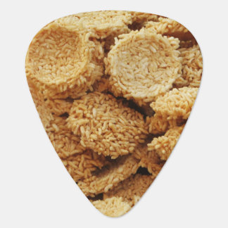 Puffed Rice Cakes ~ Asian Sweets Desserts Food Guitar Pick