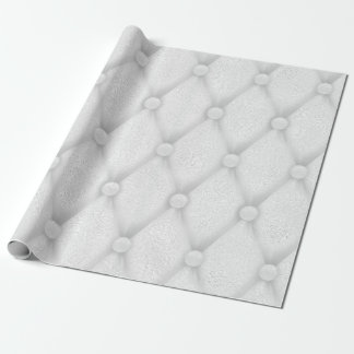 Puffed White Pearly Gray Silver Urban Glass Wrapping Paper