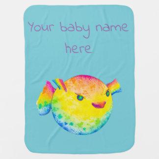 Puffer fish baby blanket