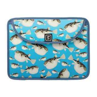 Puffer Fish Blue Pattern Sleeve For MacBooks