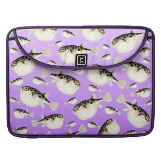 Puffer Fish Purple Pattern Sleeve For MacBooks