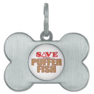 Puffer Fish Save Pet Tag