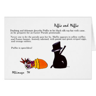 Puffie and Muffie Easter Parade Card