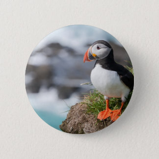 Puffin 6 Cm Round Badge
