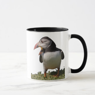 Puffin asking for a caption mug