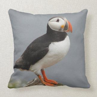 Puffin Bird Antarctic Nature Throw Pillow