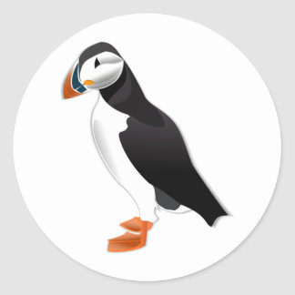 puffin bird classic round sticker